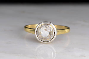 Late Victorian Floating Bezel Diamond Engagement Ring