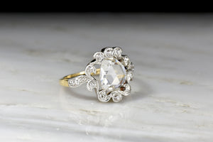 Antique 1.33 Carat Rose Cut Diamond in a Rare Victorian Mount