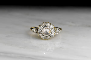 Victorian Rose Cut and Old Mine Cut Diamond Cluster Ring