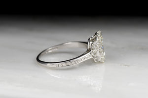 Antique/Vintage Edwardian 1.71 Carat Chubby Pear Cut Diamond Engagement Ring