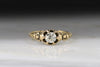 Victorian .50 Carat Old European Cut Diamond and Rose Gold Engagement Ring