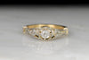Belle Époque Gold and Platinum Old European Cut Diamond Ring