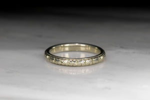 c. 1910s Wedding Band with Orange Blossom Engraving