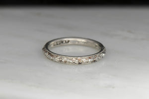 1922 Late Edwardian Platinum Wedding Band with Orange Blossoms