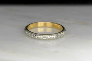 Late Victorian Two-Toned Wedding Band