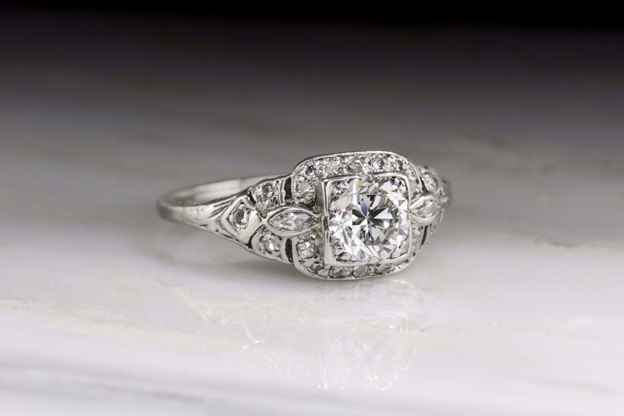 re ring europeancut shoot sequence ctw stunning diamond late edwardian and in certified engagement platinum cut with a art european deco carat antique old products vintage