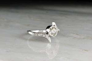 c. 1930s Bezel Set Old European Cut Diamond Anniversary Ring