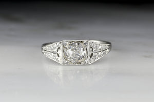 Antique Edwardian Old Mine Cut Diamond Engagement or Anniversary Ring