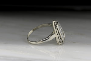 Retro Three-Stone Old European Cut Diamond Ring