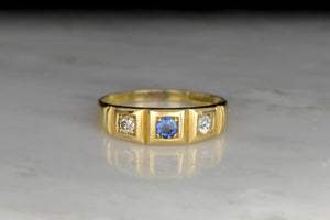 Victorian / Retro Sapphire and Diamond Ring