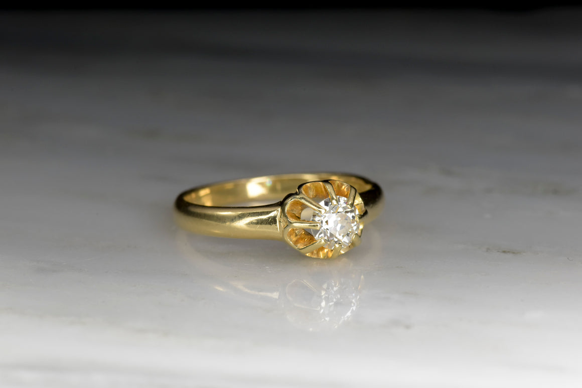 Victorian Diamond Buttercup Engagement Ring
