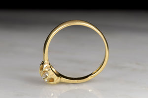 Victorian 18K Yellow Gold and Diamond Solitaire Buttercup Engagement Ring