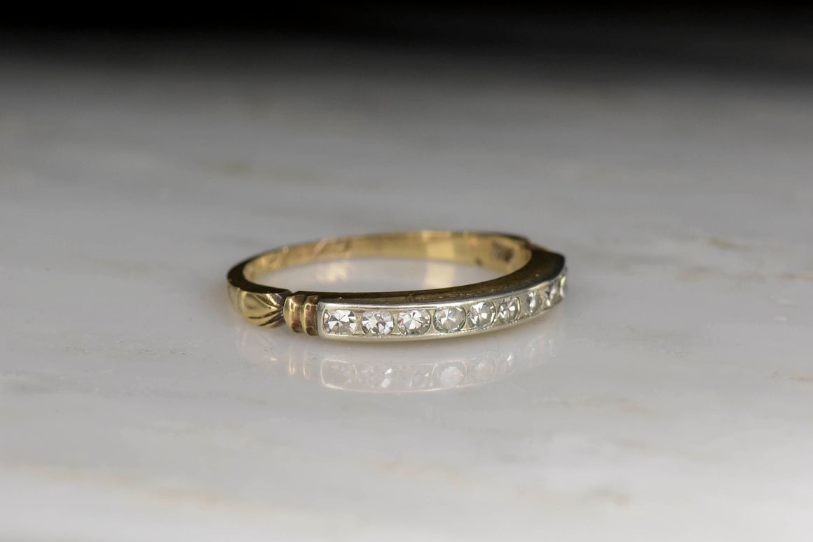 1940s Victorian Revival Diamond Wedding Band