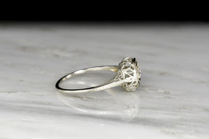 c. 1920s Engagement Ring with a Swiss Cut Diamond Center