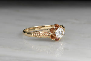 Double Buttercup Late Victorian Diamond Engagement Ring