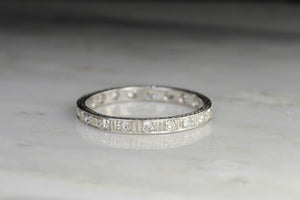 Late Edwardian/Art Deco Handmade Eternity Band