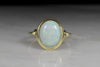 Retro Right Hand Gold and Opal Ring
