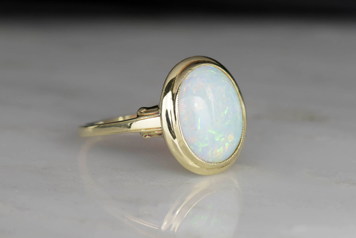 Retro Right-Hand Gold and Opal Ring