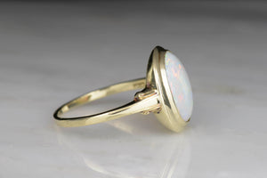 "Vintage ""Lambert Bros."" Gold and Opal Right-Hand Ring"