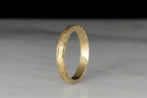 Men's Victorian Revival / Mid-Century Gold Band