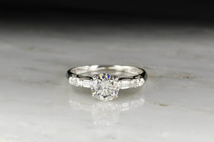 Classic Mid-Century Engagement Ring with a GIA 1.06 Carat Diamond