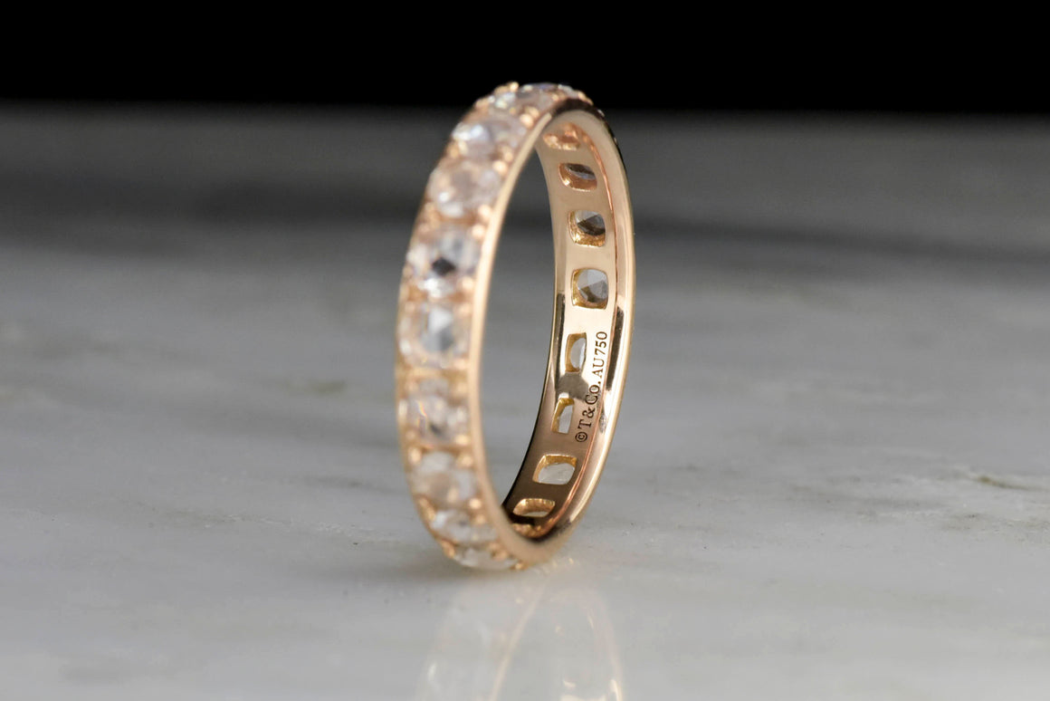 Tiffany & Co. Rose Cut Diamond and Rose Gold Eternity Band