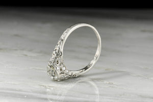 "Late Edwardian ""Orange Blossom"" Diamond Engagement Ring"