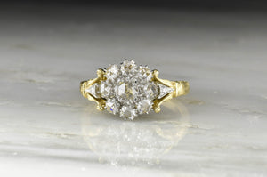Handmade Victorian Revival Rose Cut Diamond Ring