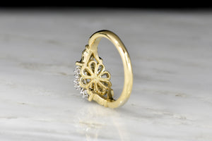 Handmade Victorian Revival Rose Cut Diamond Cluster Ring