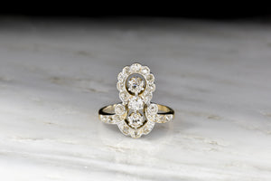 Ornate Two-Toned Edwardian Gold and Diamond Ring