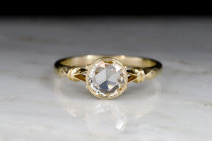 Handmade Victorian Revival Split-Shank Engagement Ring