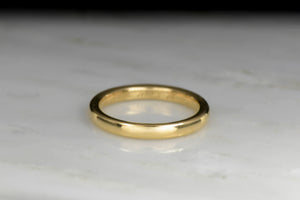 Classic Gold Wedding Band from 1915