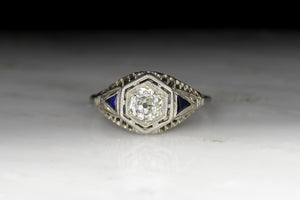 Vintage Art Deco .65 Carat EGL Certified Old Mine Cut Diamond Engagement Ring