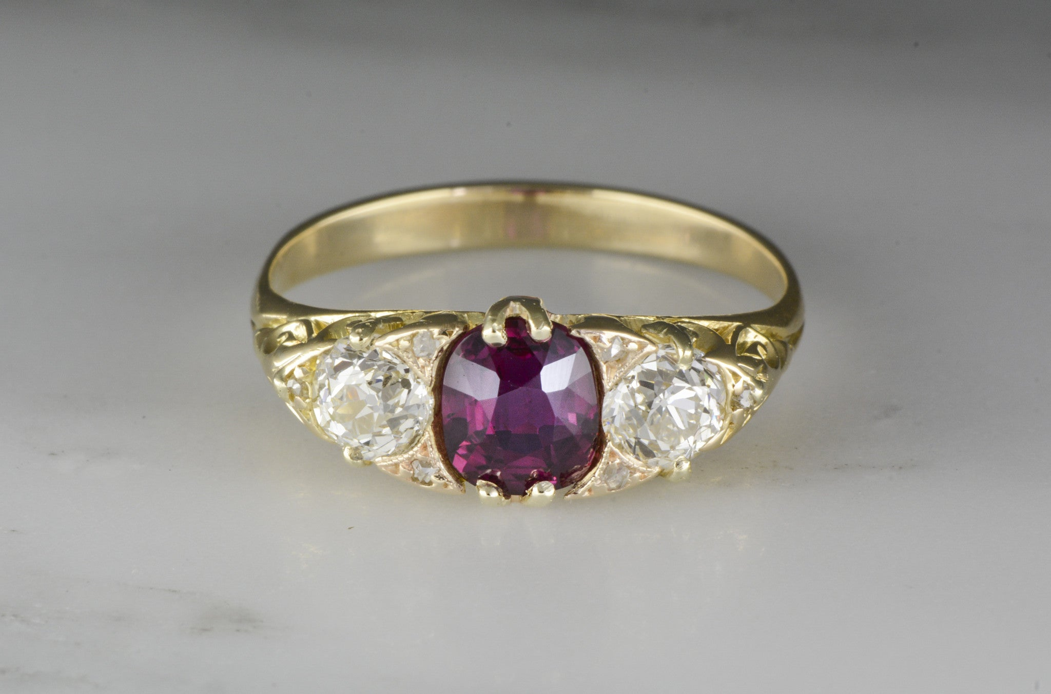 pink ruby art anniversary cut and products natural rings victorian ring ct accent diamond ctw cushion sapphire engagement nouveau