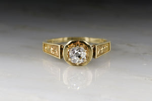 "Rare Victorian ""July 4th 1864"" Old Mine Cut Diamond Engagement Ring"