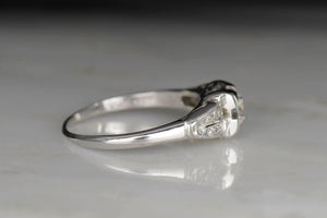 1937 Art Deco / Retro Diamond Engagement Ring