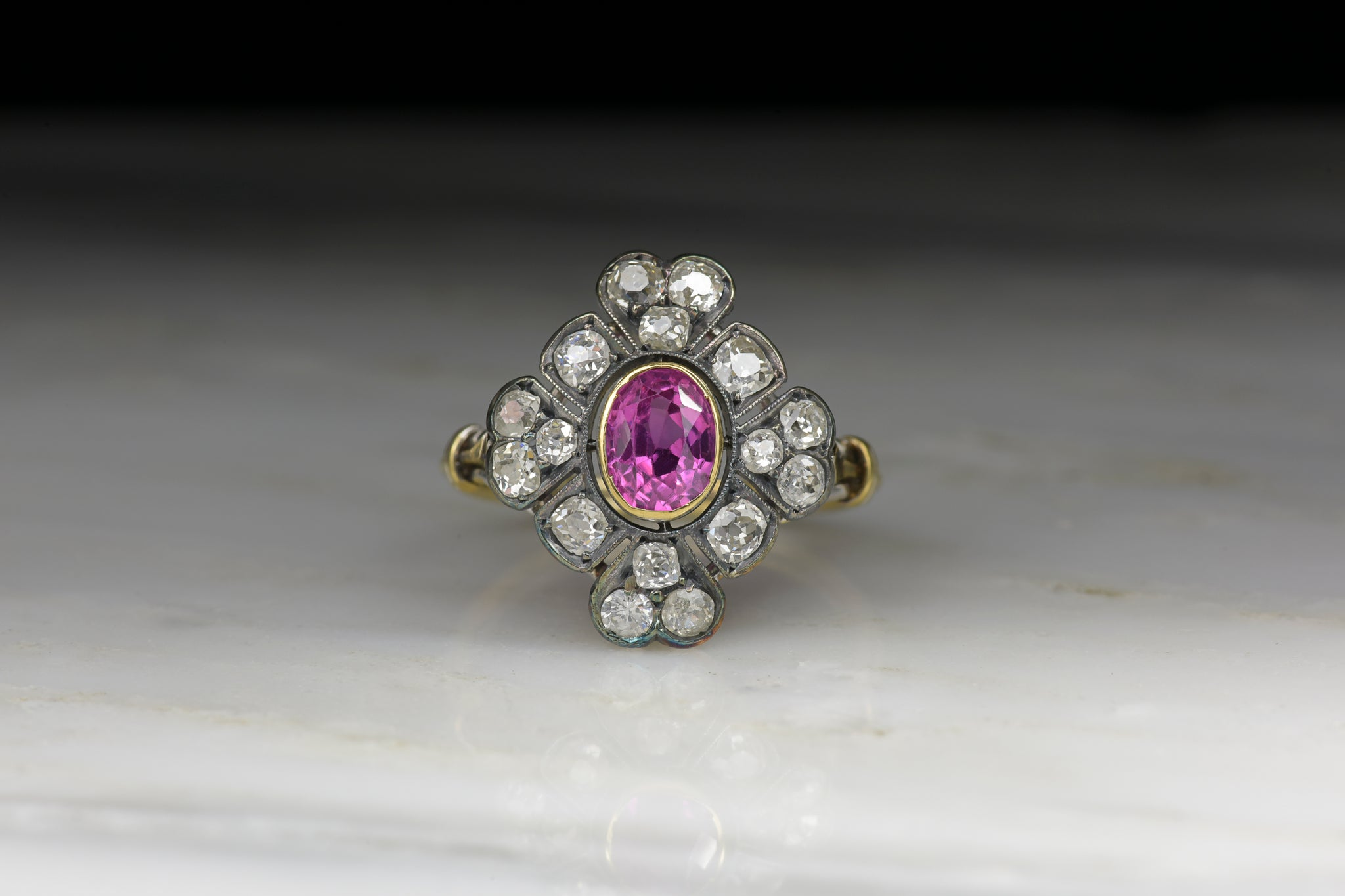 cocktail diamond vintage ring