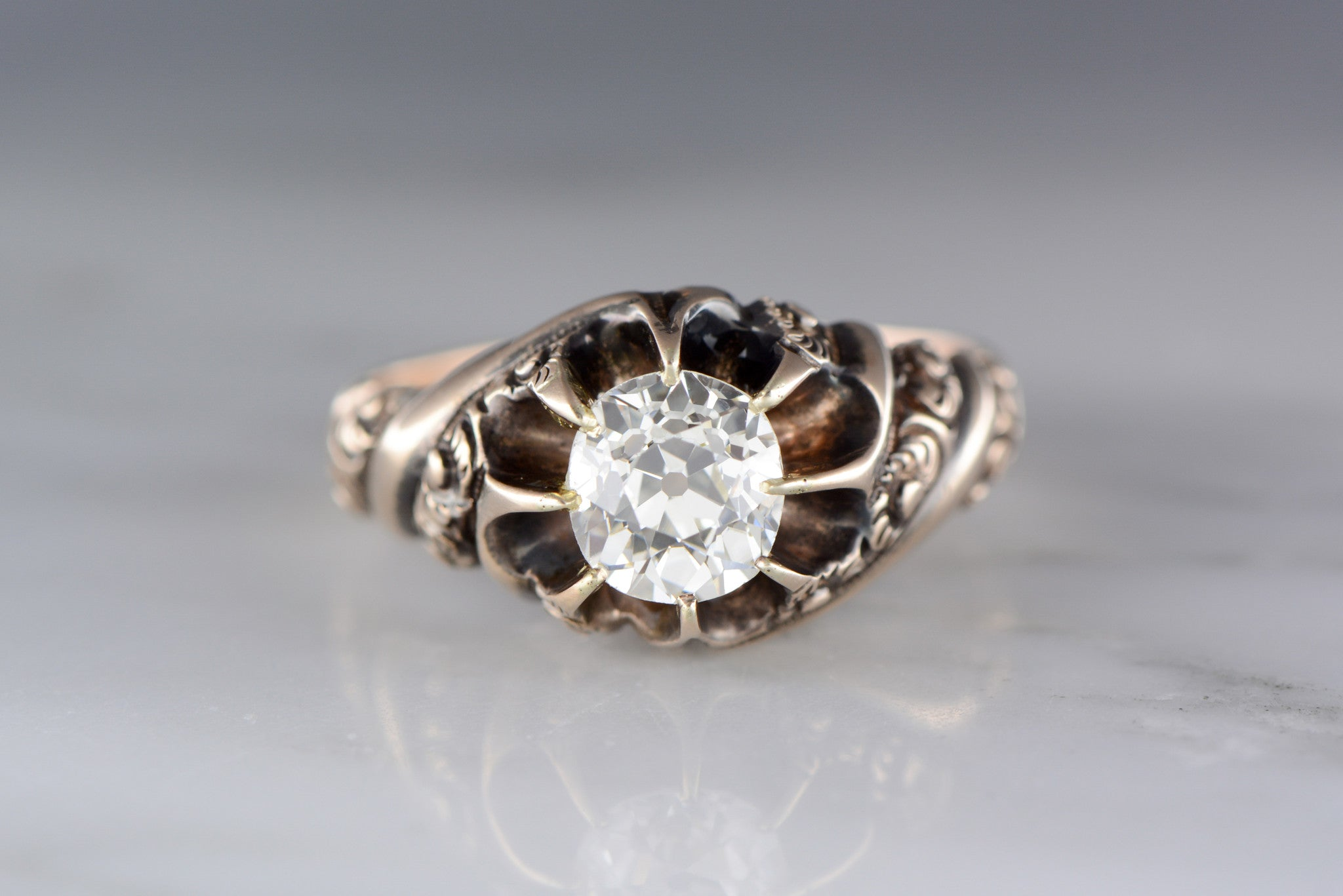 ring tdw filigree by anniversary aniversary pin wide diamond gold kobelli annello antique rings white