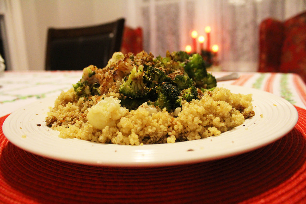 Jay's Quinoa and Steamed Veggies - Vegan Gluten Free Recipe