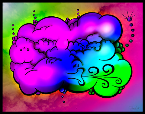Poof Poof Pass, art, artist, draw, drawing, create, creating, pencil, pen, ink, color, colour, psychedelic,   groovy, trippy, weed, 420, lsd,