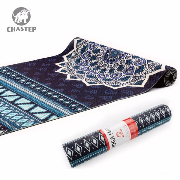 Yoga Mat Natural 6mm Yoga Pads Fitness Mat PVC Material for Exercise Gymnastics Mats Chastep Unique Design Fitness with Yoga Bag