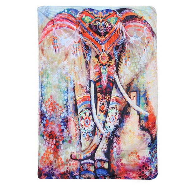 Tapestry Animal Printed Indian Hippie Wall Hanging Tapestries Rectangle Wall Art Mattress Sleeping Pad Tapest
