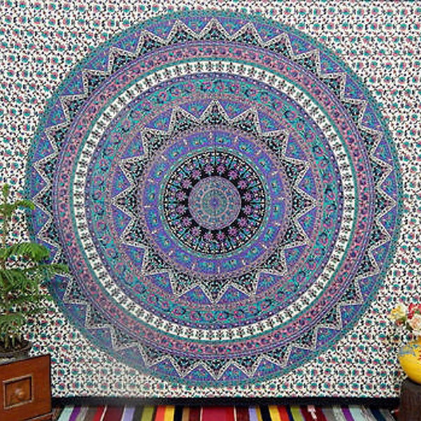 Large Indian Mandala Tapestry Hippie Hippy Wall Hanging Throw Bedspread Dorm