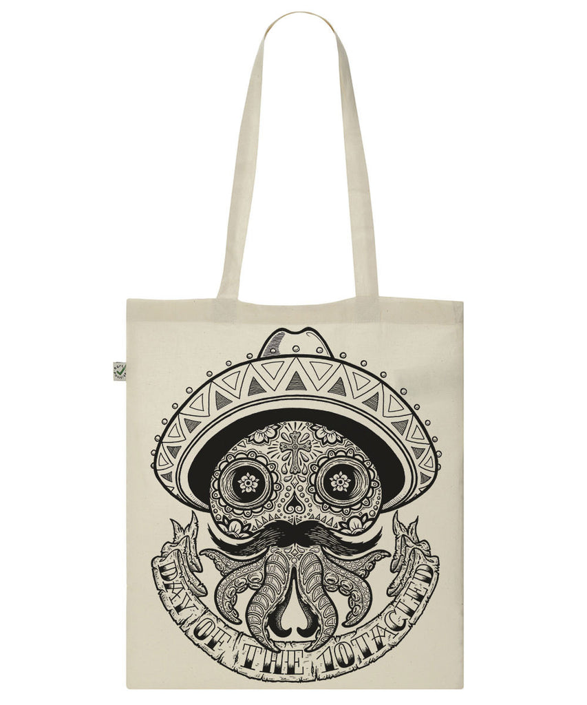 CALAVERA 10tacled Classic Shopper TOTE Bag 100% Organic Cotton Front