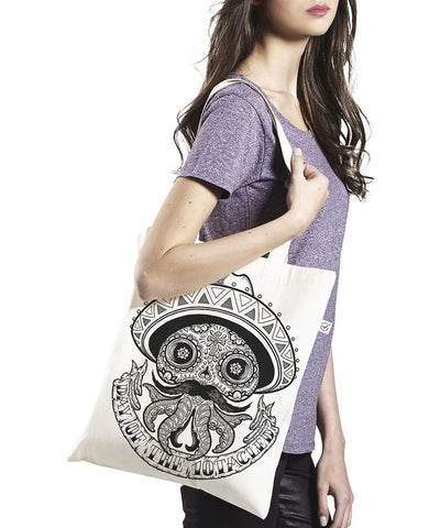 CALAVERA 10tacled Classic Shopper TOTE Bag 100% Organic Cotton Model