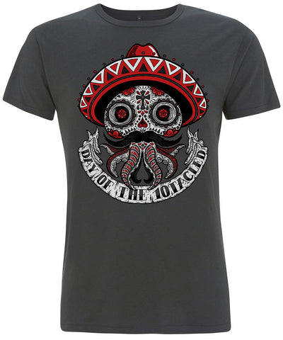 CALAVERA 10tacled Men Bamboo Short Sleeve T-shirt Charcoal Front