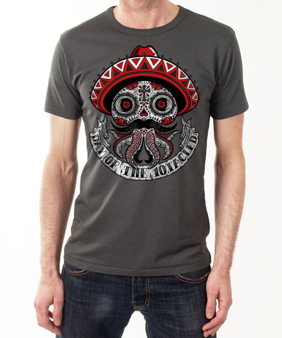 CALAVERA 10tacled Men Bamboo Short Sleeve T-shirt Charcoal Model