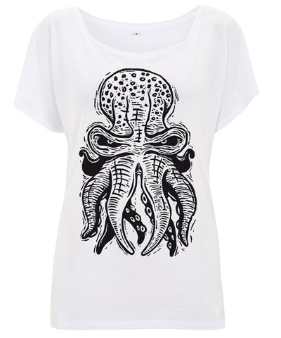 Octopus Women's Batwing Tunic Tencel T-Shirt