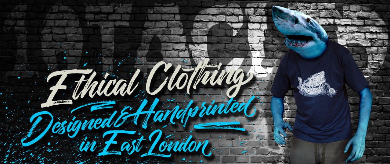 Ethical Clothing Designed & Handprinted in East London