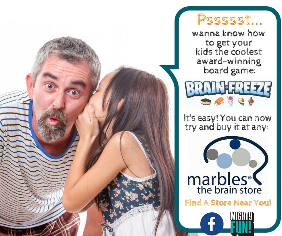 Brain Freeze Now Available at Marbles Stores